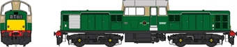 1725 Class 17 D8607 in BR green with small yellow panels