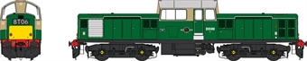 1726 Class 17 D8599 in BR green with small yellow panels - weathered