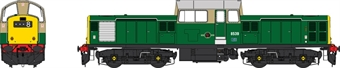 1727 Class 17 D8539 in BR green with full yellow ends