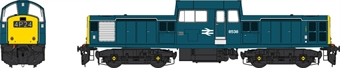 1729 Class 17 8538 in BR blue - weathered