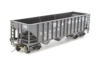 17749-PO02 70-ton 14 panel 3 bay hopper #17749 of the D&RGW - Pre-owned - Good box