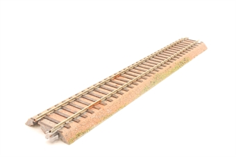 2-150-PO04 Ground Level 246mm Straight Track (4) - Pre-owned - Weathered - Grass added to edges - Very good box