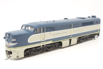 21680PRO-PO Alco PA1 #8002 of the Missouri Pacific Railroad - Pre-owned - missing one bogie detail - several handrails missing or damaged - minor glue marks - replacement box