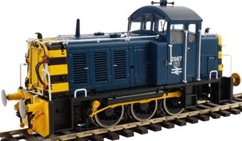 2917 Class 07 2987 in BR blue with wasp stripes and air brakes