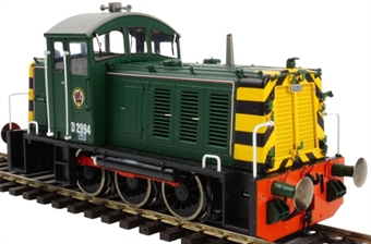 2935 Class 07 D2994 in BR green with wasp stripes - weathered