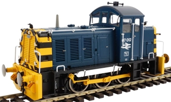2936 Class 07 07012 in BR blue with wasp stripes