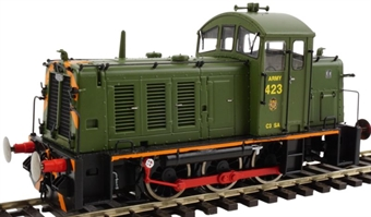 2938 Class 07 423 in Army green with wasp stripes
