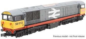 2D-058-001 Class 58 58003 in Railfreight grey with red stripe