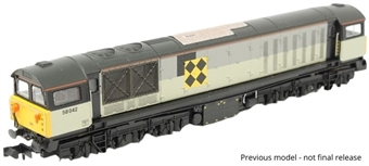 """2D-058-003D Class 58 58002 """"Dowmill Colliery"""" in Railfreight Coal Sector triple grey - Digital fitted"""