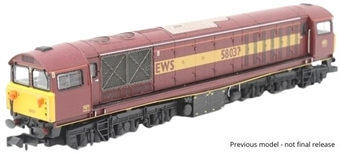 2D-058-004 Class 58 58047 in EWS red and gold