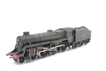 31-104-PO23 Standard Class 4MT 4-6-0 75069 with BR1B tender in BR lined green with late crest - Pre-owned - wobbly runner - weathered - crew and real coal added - Kadee coupling fitted at rear - fair box