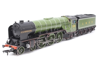 31-525-PO11 Class A2 4-6-2 525 'A H Peppercorn' in LNER green - Pre-owned - DCC Fitted - Crew added - Marks on fall plate - Very good box
