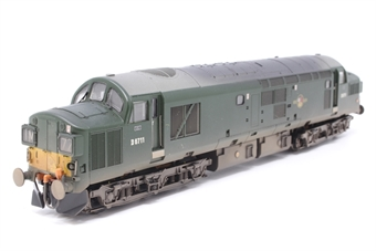 32-776Y-PO08 Class 37/0 D6711 in BR Green with Late Crest, Split Head Code Boxes & Small Yellow Panels - Weathered - Limited Edition - Pre-owned - DCC Fitted - glue marks on one end -  Good box - Missing plastic sleeve