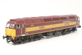 """32-817K-PO01 Class 47/7 47778 """"Duke of Edinburgh's Award"""" in EWS livery - Limited Edition for Bachmann Collectors club - Pre-owned - Sound fitted (Soundtraxx decoder & iPhone speaker) - Like new box"""