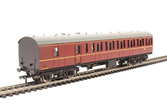 34-630B Mk1 suburban BS brake second M43301 in BR maroon with passenger figures