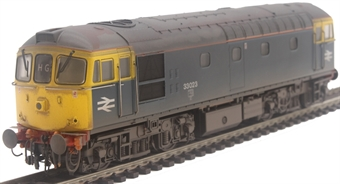 3463 Class 33/0 33023 in BR blue with grey roof and orange cantrail stripe - weathered
