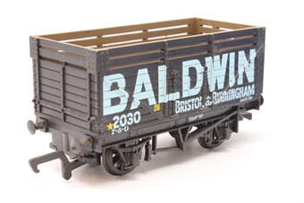 37409-PO26 7 plank wagon with coal rail in Baldwin livery - Pre-owned - Missing coupling - Fair box - Missing inner packaging