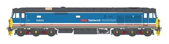 """4039 Class 50 50033 """"Glorious"""" in revised Network SouthEast dark blue"""