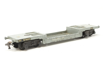4605Dublo-PO34 40 ton bogie well wagon B901006 in BR Grey - Pre-owned - worn, marked paintwork - rust on couplings - replacement packaging