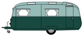 76CC003 Carlight Continental Dark Green/Sage Green