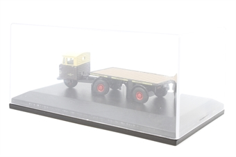 """76MH003-PO13 Mechanical horse flatbed trailer """"GWR"""" - Pre-owned - Missing outer sleeve - Fair box"""