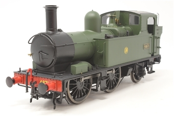 7S-006-002D-PO Class 48xx 0-4-2T 4871 in GWR unlined green with shirtbutton logo - DCC Fitted - Pre-owned - glue mark to one side of boiler - one loose grab handle - very good box