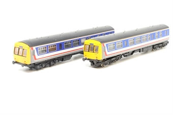 8148-PO04 Class 101 2-Car DMU L832 in Network SouthEast livery - Pre-owned - Sold as seen - Non-runner - Power car fitted with Kato chassis - Both cars identically numbered - Missing centre coach - Incorrect box