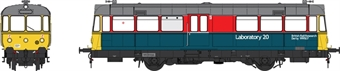 """8712 Waggon und Maschinenbau Railbus DB999507 """"Lab 20"""" in BR research department red and blue"""