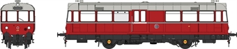 8713 Waggon und Maschinenbau Railbus 64 in Keighley and Worth Valley Railway red - as preserved
