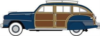 87CB42002 Chrysler T & C Woody Wagon 1942 South Sea Blue