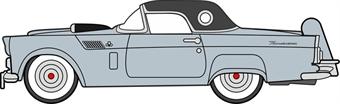 87TH56007 Ford Thunderbird 1956 Thunderbird Gray Metallic/Raven Black