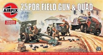 A01305V 25pdr Field Gun and Quad - Airfix Classics range - plastic kit