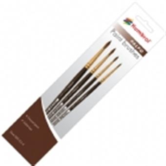 AG4250 Palpo paint brush pack including brush sizes 000, 0, 2 & 4