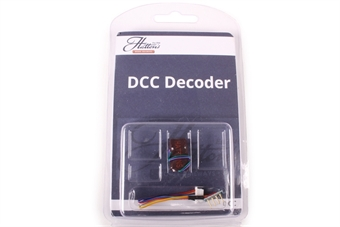 DCR-8PIN-HarnessMini 8-pin (harness) 2-function 1.1Amp small & thin (mini) decoder with back EMF - Replaced by DCR-8Pin-HarnessMini-Neo