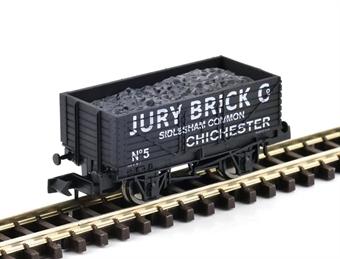 "GM2410109 7 plank open wagon ""Jury Brick Company, Chichester"""