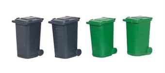GM495 Wheelie bins - pack of 4