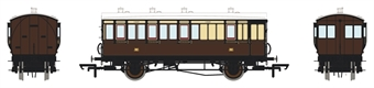 H4-4BT-101BL 4 wheel brake 3rd 197 in GWR chocolate and cream - with working lighting