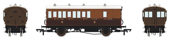 H4-4BT-1101BL 4 wheel brake 3rd in L&Y Brown and Umber - with working lighting