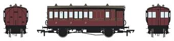 H4-4BT-1201B 4 wheel brake 3rd in Midland Railway Crimson Lake