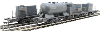 H4-RHTT-004 Rail Head Treatment Train 'Sandite' with 2 wagons and sandite modules - weathered