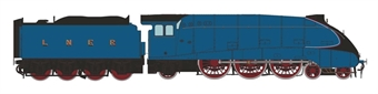 H7-A4-002C Class A4 4-6-2 unnumbered with single chimney and unstreamlined corridor tender in LNER Garter blue 1938-1941 & 1946-1948