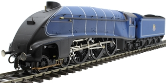 H7-A4-006A Class A4 4-6-2 unnumbered with single chimney and unstreamlined corridor tender in BR Express blue 1949-1952