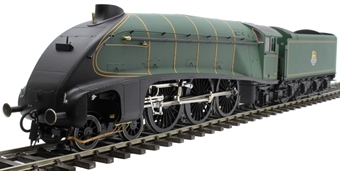 H7-A4-007B Class A4 4-6-2 unnumbered with single chimney and streamlined non-corridor tender in BR green with early emblem 1952-1957