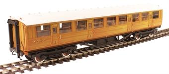 H7-TC115-001 Gresley Teak coach Diagram 115 Corridor Third unnumbered in LNER Teak livery