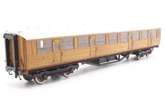H7-TC115-002-PO06 Gresley Teak coach Diagram 115 Corridor Third 23896 in LNER Teak livery - Pre-owned - Loose running board - Very good box