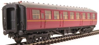 H7-TC115-005-GA Gresley Teak coach Diagram 115 Corridor Third unnumbered in BR maroon livery