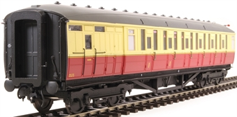 H7-TC175-003-GA Gresley Teak coach Diagram 175 Brake Corridor Composite unnumbered in BR carmine & cream livery
