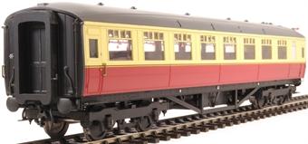 H7-TC186-003-GA Gresley Teak coach Diagram 186 Open Third unnumbered in BR carmine & cream livery