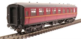 H7-TC186-006-GA Gresley Teak coach Diagram 186 Open Third E13372E in BR maroon livery