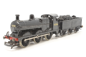 KB1171-PO Class 3F 0-6-0T #43216 in LMS black - built from unknown kit with Romford wheels and X04 motor with Pitman armatures - Pre-owned  - real coal and crew added (driver loose) - paint chipped around chimney - good box